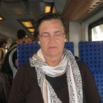 Meditating on train in Germany