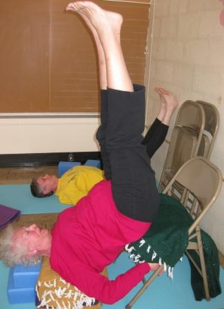 benefits of inversions modified shoulder stand  barefoot